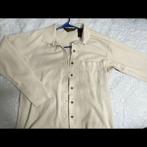 eddie bauer | cream button down